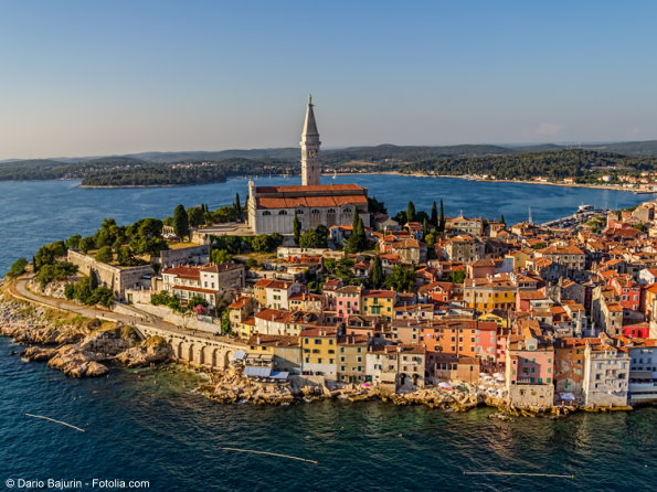 Bild: Aerial shoot of Rovinj, Croatia