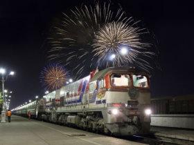 bBild: Transsibirische Eisenbahn Moskau Peking Moskau Ankunft Peking