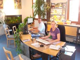 Bild: Unser Büro im Bahnhof Freiburg-Littenweiler