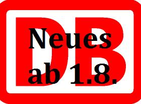 Neue Bahntarife seit 1.8.2018