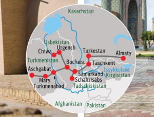 Reiseroute Silk Road Express