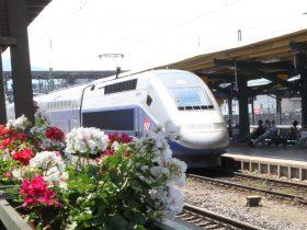 Freiburgs schnellster Zug: unser TGV nach Paris