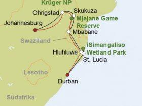 Südafrika: Krüger Nationalpark bis Durban