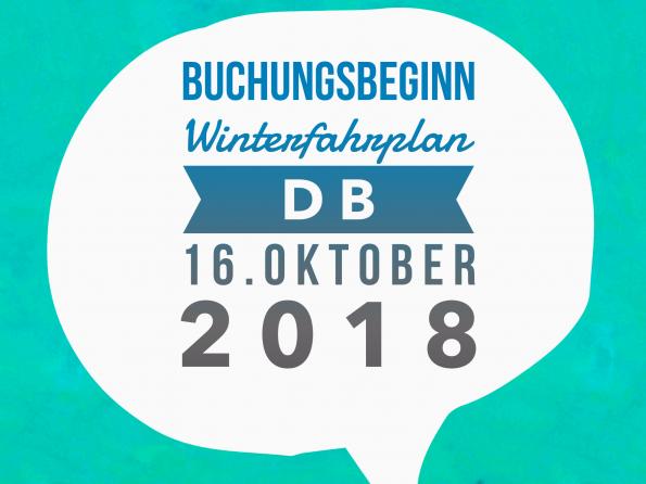 Buchungsbeginn Winterfahrplan 16.10.