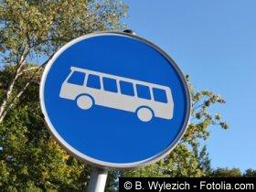 Bild: Bushaltestelle Fernbus