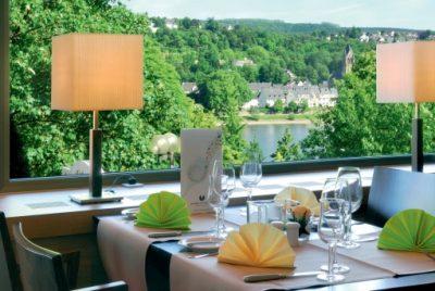 ****Hotel Mercure in Koblenz. Ausblick aus dem Restaurant