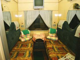 bBild: Transsibirische Eisenbahn Moskau Peking Moskau Zugabteil