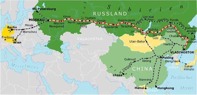 Bild: Karte Transsib
