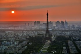 Bild: Paris Abendstimmung Skyline