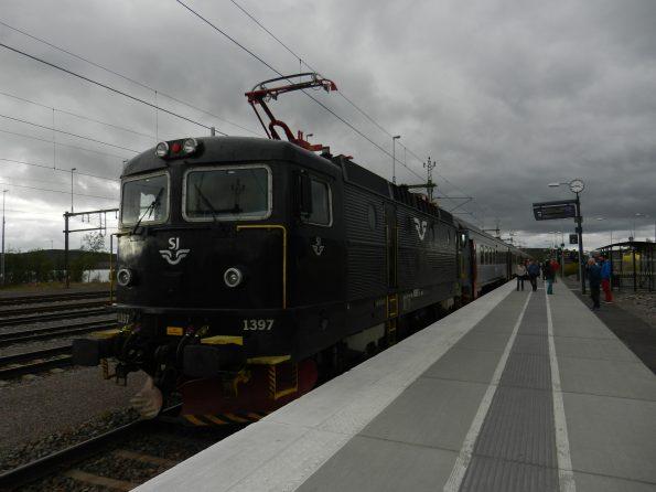 SJ Personen Zug in Kiruna