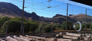 Ausblick auf Landschaft aus dem Dogu Express bei Erzerum