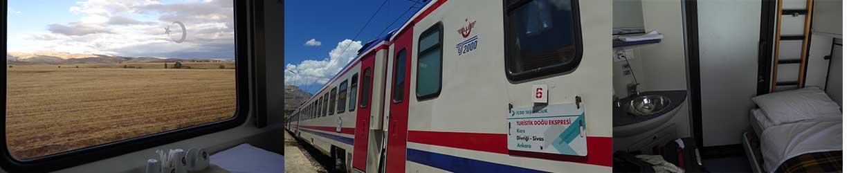 Innenanicht 2-bett-Abteil vom Dogu Tourist Express von Ankara nach Kars