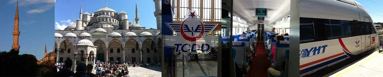 Blaue Moschee Istanbul, YHT Schnellzug IST-Ankara, TCDD Logo