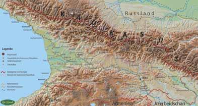 Landkarte von der Kaukasusrepublik Georgien