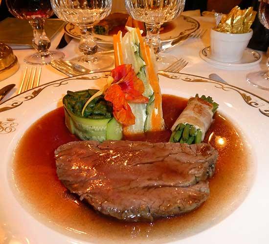 Hervorragendes Essen im Orientexpress-Dinner