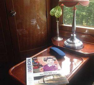AmeropKatalog im venice-Simplon-Orien-Express von Paris nach Berlin