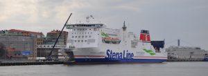 Stena Line Fähre am Anleger.