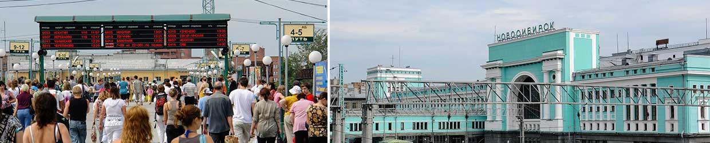 11mit der Transsib am Bahnhof von Novosibirsk