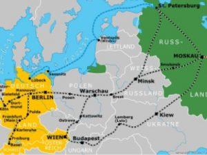 Karte Zug nach Moskau
