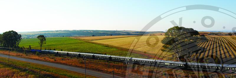 """11Rovos Rail """"Pride of Africa"""". Blick aus dem Zugfenster."""