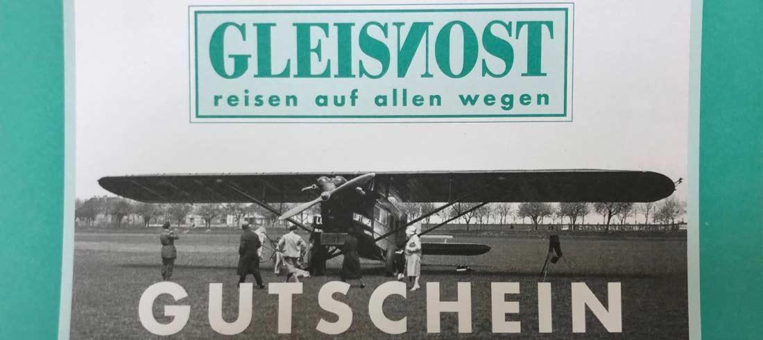 Gleisnost Gutschein Vorderseite