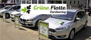 Stellplatz von Grüne Flotte Autos in der Freiburger Innenstadt