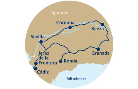Reiseverlauf Train el Andalus