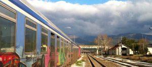 Unterwegs im Zug nach Thessaloniki in Griechenland